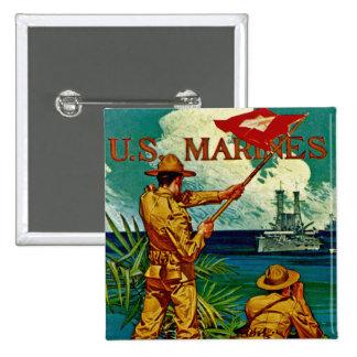 U.S. Marines ~ Signal Flag Pinback Button