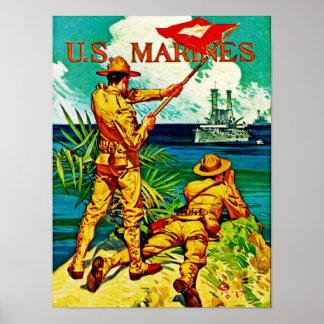 U.S. Marines ~ Signal Flag Poster
