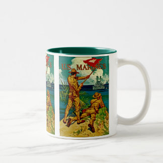 U.S. Marines ~ Signal Flag Two-Tone Coffee Mug