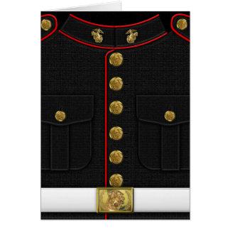 U.S. Marines: USMC Dress Uniform [3D] Greeting Card