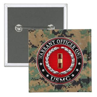 U.S. Marines: Warrant Officer One (USMC WO-1) [3D] Pinback Buttons