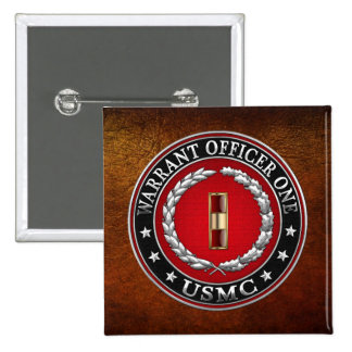U.S. Marines: Warrant Officer One (USMC WO-1) [3D] Pinback Button