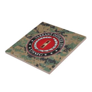 U.S. Marines: Warrant Officer One (USMC WO-1) [3D] Small Square Tile