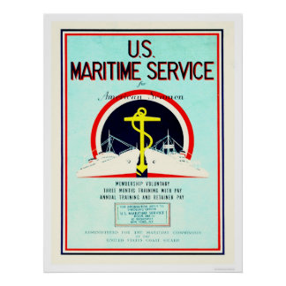 U S Maritime Service US02055 Posters