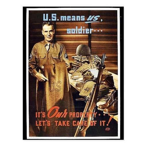 U.S. Means Us, Soldier Post Cards