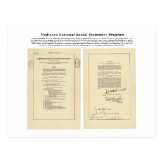U.S. Medicare National Social Insurance Program Postcard
