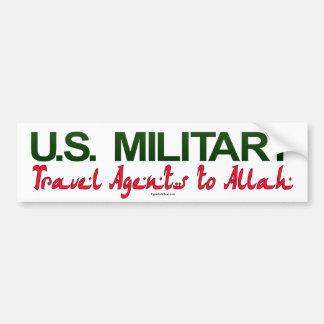 U.S. Militares: Agentes de viajes a Alá Pegatina Para Auto