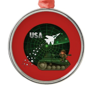 U.S. Military Air Force Army Christmas Ornament