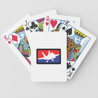U S MILITARY AIRCRAFT BICYCLE PLAYING CARDS