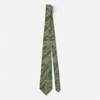U.S. Military Green Camouflage Men's Tie