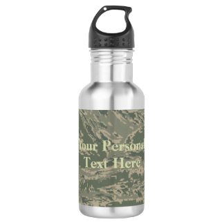 U.S. Military Green Camouflage Stainless Steel Stainless Steel Water Bottle