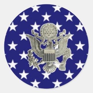 u.s. military insignia round stickers