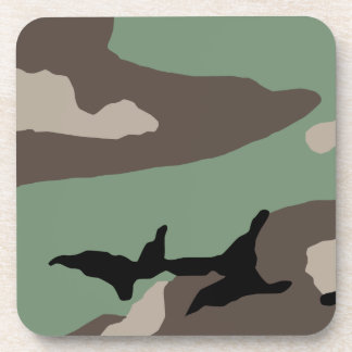 U S Military Woodland Camouflage Drink Coasters