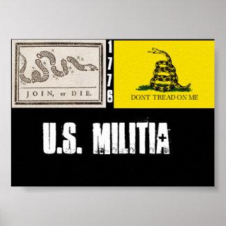 u.s. militia Poster