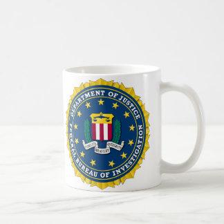 U.S. MINISTERIO DE JUSTICIA - FBI TAZA CLÁSICA