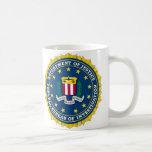 U.S. MINISTERIO DE JUSTICIA - FBI TAZA DE CAFÉ