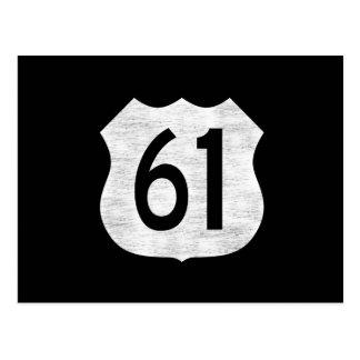 U.S. Muestra de la ruta de la carretera 61 Postal