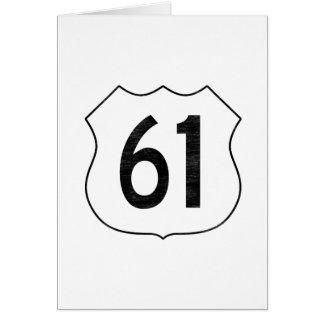 U.S. Muestra de la ruta de la carretera 61 Tarjeta De Felicitación