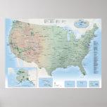 U.S. National Parks map poster