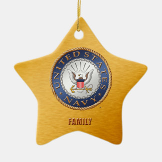 U.S. Navy Family Ceramic Ornament