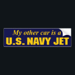 "U.S. Navy Jet Bumper Sticker<br><div class=""desc"">My other car is a U.S. Navy Jet</div>"