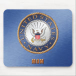 """U.S. Navy Mom Mousepad<br><div class=""""desc"""">Show your pride in the U.S. Navy. Designed by a veteran.</div>"""