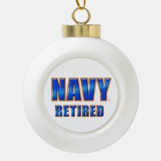 U.S. Navy Retired Ceramic Ball Ornament