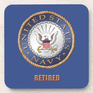 U.S. Navy Retired Hard plastic coaster