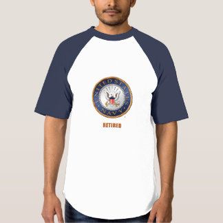 U.S. Navy Retired Men's Raglan Baseball T-Shirt