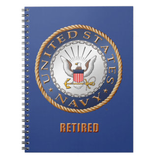 U.S. Navy Retired Spiral Photo Notebook