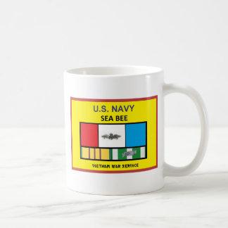 U.S. NAVY SEA BEE VIETNAM VETERAN COFFEE MUG