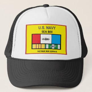 U.S. NAVY SEA BEE VIETNAM VETERAN TRUCKER HAT