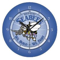 U.S. Navy Seabee Large Clock
