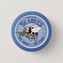 U.S. Navy Seabee Pinback Button