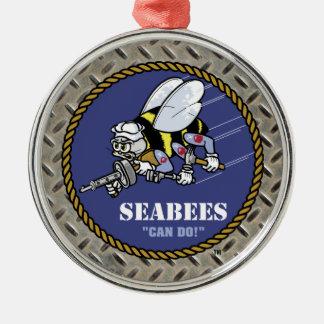 U.S. Navy | Seabees Metal Ornament