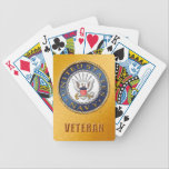 "U.S. Navy Veteran Bicycle Playing Cards<br><div class=""desc"">Show your pride in the U.S. Navy. Designed by a veteran.