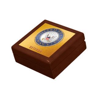U.S. Navy Veteran Jewelry Keepsake Box