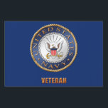 "U.S. Navy Veteran Yard Sign<br><div class=""desc"">Show your pride in the U.S. Navy. Designed by a veteran.</div>"