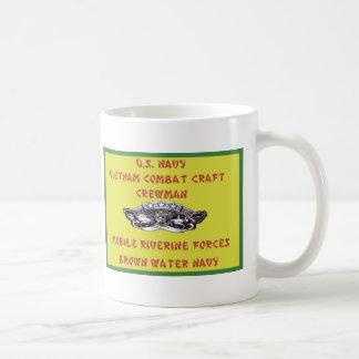 U.S. NAVY VIETNAM COMBAT CRAFT CREWMAN CLASSIC WHITE COFFEE MUG