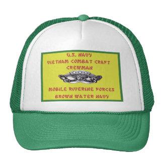U.S. NAVY VIETNAM COMBAT CRAFT CREWMAN TRUCKER HAT