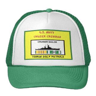 U.S. NAVY VIETNAM CRUISER CREWMAN TRUCKER HAT