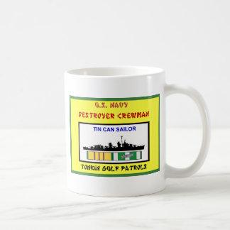 U.S. NAVY VIETNAM DESTROYER CREWMAN COFFEE MUG