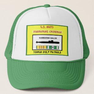 827da7f3b6b U.S. NAVY VIETNAM SUBMARINE CREWMAN TRUCKER HAT