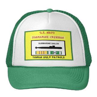 U.S. NAVY VIETNAM SUBMARINE CREWMAN TRUCKER HAT