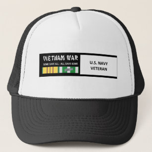 U S  NAVY VIETNAM WAR VETERAN TRUCKER HAT
