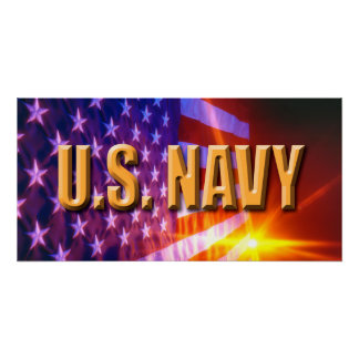 """U.S. Navy Your Custom 28"""" x 14"""" Perfect Poster"""