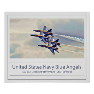 U.S. Navy's Blue Angels Poster