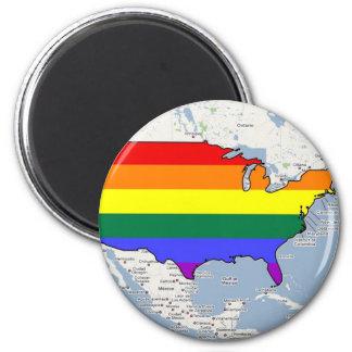 U.S. Orgullo de GLBT Imán Redondo 5 Cm