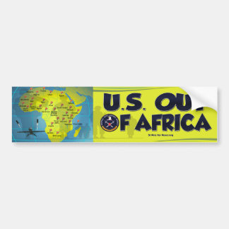 U.S. out of Africa bumper sticker