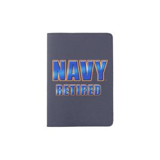 U.S. Pasaporte jubilado marina de guerra Holde Porta Pasaporte